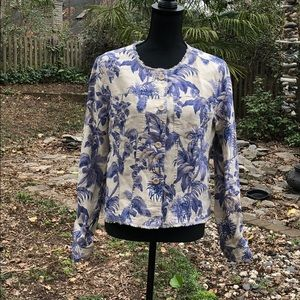 NWT Tommy Bahama linen floral Button Down